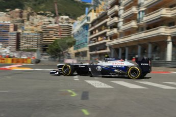 World © 2013 Octane Photographic Ltd. F1 Monaco GP, Monte Carlo -Thursday 23rd May 2013 - Practice 1. Williams FW35 - Valtteri Bottas. Digital Ref : 0692lw1d7095