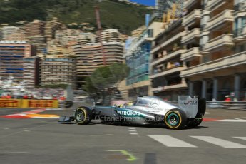 World © 2013 Octane Photographic Ltd. F1 Monaco GP, Monte Carlo -Thursday 23rd May 2013 - Practice 1. Mercedes AMG Petronas F1 W04 - Nico Rosberg. Digital Ref : 0692lw1d7105