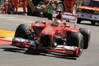 World © 2013 Octane Photographic Ltd. F1 Monaco GP, Monte Carlo -Thursday 23rd May 2013 - Practice 1. Scuderia Ferrari F138 - Fernando Alonso. Digital Ref : 0692lw1d7138