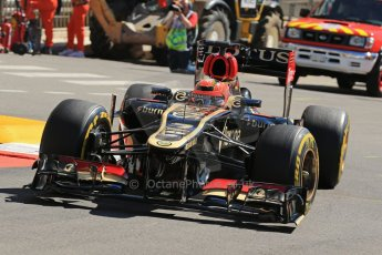 World © 2013 Octane Photographic Ltd. F1 Monaco GP, Monte Carlo -Thursday 23rd May 2013 - Practice 1. Lotus F1 Team E21- Kimi Raikkonen. Digital Ref : 0692lw1d7151