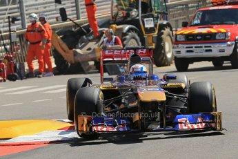 World © 2013 Octane Photographic Ltd. F1 Monaco GP, Monte Carlo -Thursday 23rd May 2013 - Practice 1. Scuderia Toro Rosso STR8 - Jean-Eric Vergne. Digital Ref : 0692lw1d7166