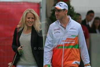 World © Octane Photographic Ltd. F1 Spanish GP - Friday 10th May 2013 paddock. Adrian Sutil - Sahara Force India. Digital Ref : 0658cb1d8736