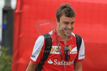 World © Octane Photographic Ltd. F1 Spanish GP - Friday 10th May 2013 paddock. Fernando Alonso - Scuderia Ferrari. Digital Ref : 0658cb1d8776