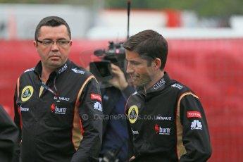 World © Octane Photographic Ltd. F1 Spanish GP - Friday 10th May 2013 paddock. Eric Boulier - Lotus. Digital Ref : 0658cb1d8831