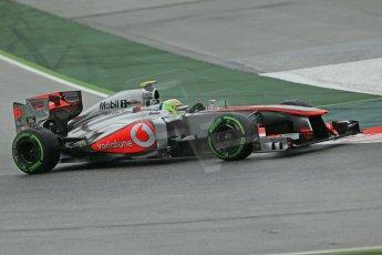 World © Octane Photographic Ltd. F1 Spanish GP, Circuit de Catalunya, Friday 10th May 2013. Practice 1. Sergio Perez - Vodafone McLaren Mercedes MP4/28. Digital Ref : 0659cb1d8900