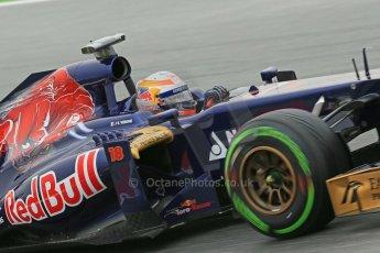 World © Octane Photographic Ltd. F1 Spanish GP, Circuit de Catalunya, Friday 10th May 2013. Practice 1. Jean-Eric Vergne - Toro Rosso STR8. Digital Ref : 0659cb1d9138
