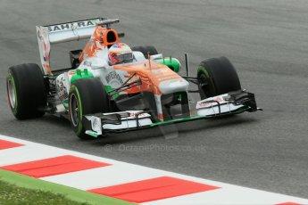 World © Octane Photographic Ltd. F1 Spanish GP, Circuit de Catalunya, Friday 10th May 2013. Practice 1. Paul di Resta - Sahara Force India. Digital Ref : 0659cb1d9199