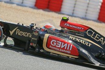 World © Octane Photographic Ltd. F1 Spanish GP, Circuit de Catalunya, Friday 10th May 2013. Practice 2. Lotus - Romain Grosjean. Digital Ref : 0661cb1d9428