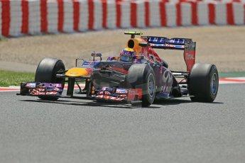 World © Octane Photographic Ltd. F1 Spanish GP, Circuit de Catalunya, Friday 10th May 2013. Practice 2. Infiniti Red Bull Racing - Mark Webber. Digital Ref : 0661cb1d9501