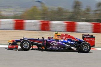 World © Octane Photographic Ltd. F1 Spanish GP, Circuit de Catalunya, Friday 10th May 2013. Practice 2. Infiniti Red Bull Racing - Mark Webber. Digital Ref : 0661cb7d8894