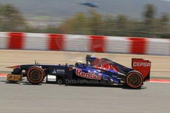 World © Octane Photographic Ltd. F1 Spanish GP, Circuit de Catalunya, Friday 10th May 2013. Practice 2. Toro Rosso - Jean-Eric Vergne. Digital Ref : 0661cb7d8903
