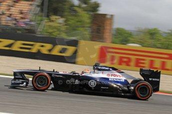 World © Octane Photographic Ltd. F1 Spanish GP, Circuit de Catalunya, Friday 10th May 2013. Practice 2. Williams - Pastor Maldonado. Digital Ref : 0661cb7d8984