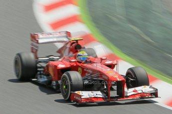 World © 2013 Octane Photographic Ltd. F1 Spanish GP, Circuit de Catalunya - Sunday 12th May 2013 - Race. Scuderia Ferrari F138 - Felipe Massa. Digital Ref : 0673cb1d2481