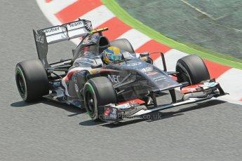 World © 2013 Octane Photographic Ltd. F1 Spanish GP, Circuit de Catalunya - Sunday 12th May 2013 - Race. Sauber C32, Esteban Gutierrez. Digital Ref : 0673cb1d2598