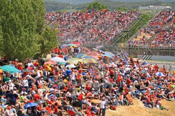 World © 2013 Octane Photographic Ltd. F1 Spanish GP, Circuit de Catalunya - Sunday 12th May 2013 - Race. Race crowds Atmosphere. Digital Ref : 0673cb7d9305