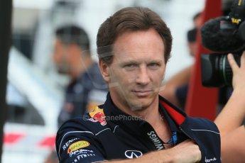 World © Octane Photographic Ltd. F1 Spanish GP - Saturday Paddock - 11th May 2013. Christian Horner - Infiniti Red Bull Racing. Digital Ref : 0668cb1d0137