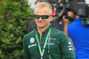 World © Octane Photographic Ltd. F1 Spanish GP - Saturday Paddock - 11th May 2013. Heikki Kovalainen - Caterham. Digital Ref : 0668cb1d0251