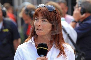 World © Octane Photographic Ltd. F1 Spanish GP - Saturday Paddock - 11th May 2013. Suzi Perry - BBC Sports. Digital Ref : 0668cb7d9145