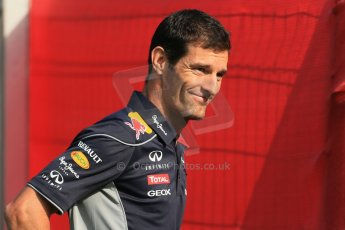 World © 2013 Octane Photographic Ltd. F1 Spanish GP, Circuit de Catalunya - Sunday 12th May 2013 - Paddock. Red Bull - Mark Webber. Digital Ref : 0675cb1d1908