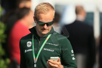 World © 2013 Octane Photographic Ltd. F1 Spanish GP, Circuit de Catalunya - Sunday 12th May 2013 - Paddock. Caterham - Heikki Kovalainen. Digital Ref : 0675cb1d1953