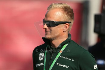 World © 2013 Octane Photographic Ltd. F1 Spanish GP, Circuit de Catalunya - Sunday 12th May 2013 - Paddock. Caterham - Heikki Kovalainen. Digital Ref : 0675cb1d1957