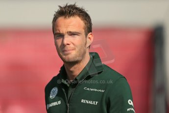 World © 2013 Octane Photographic Ltd. F1 Spanish GP, Circuit de Catalunya - Sunday 12th May 2013 - Paddock. Caterham - Giedo van der Garde. Digital Ref : 0675cb1d1994