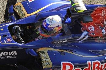 World © Octane Photographic Ltd. Formula 1 Winter Test Jerez – Day 1 – Tuesday 5th February 2013. Toro Rosso STR8, Daniel Ricciardo. Digital Ref: 0571cb7d6621