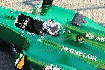 World © Octane Photographic Ltd. Formula 1 Winter Test Jerez – Day 1 – Tuesday 5th February 2013. Caterham CT03, Giedo van de Garde. Digital Ref: 0571cb7d6631