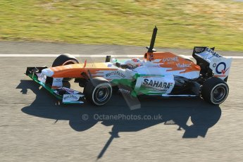 World © Octane Photographic Ltd. Formula 1 Winter Test Jerez – Day 1 – Tuesday 5th February 2013. Sahara Force India VJM06 – Paul di Resta. Digital Ref: 0571cb7d6716