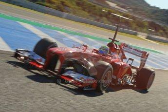World © Octane Photographic Ltd. Formula 1 Winter Test Jerez – Day 1 – Tuesday 5th February 2013. Ferrari F138 - Felipe Massa. Digital Ref: 0571cb7d6777