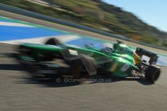 World © Octane Photographic Ltd. Formula 1 Winter Test Jerez – Day 1 – Tuesday 5th February 2013. Caterham CT03, Giedo van der Garde. Digital Ref: 0571cb7d6786