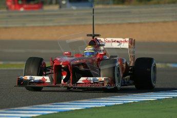World © Octane Photographic Ltd. Formula 1 Winter Test Jerez – Day 1 – Tuesday 5th February 2013. Ferrari F138 – Felipe Massa. Digital Ref: 0571lw1d7766