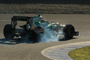 World © Octane Photographic Ltd. Formula 1 Winter Test Jerez – Day 1 – Tuesday 5th February 2013. Caterham CT03 - Giedo van der Garde. Digital Ref: 0571lw1d7838