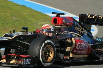 World © Octane Photographic Ltd. Formula 1 Winter Test Jerez – Day 1 – Tuesday 5th February 2013. Lotus E31 - Romain Grosjean. Digital Ref: 0571lw1d7890