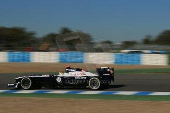 World © Octane Photographic Ltd. Formula 1 Winter Test Jerez – Day 1 – Tuesday 5th February 2013. Williams FW34 – Pastor Maldonado. Digital Digital Ref: 0571lw1d8162