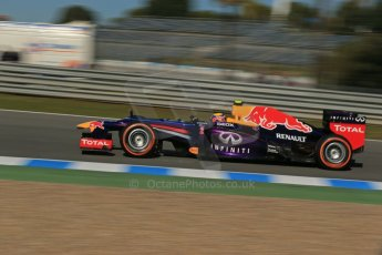 World © Octane Photographic Ltd. Formula 1 Winter Test Jerez – Day 1 – Tuesday 5th February 2013. Infiniti Red Bull Racing RB9. Mark Webber. Digital Ref: 0571lw1d8399