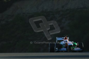 World © Octane Photographic Ltd. Formula 1 Winter testing, Jerez, 6th February 2013, morning sessions. Sahara Force India VJM06 – Paul di Resta. Digital Ref: 0572lw1d8635