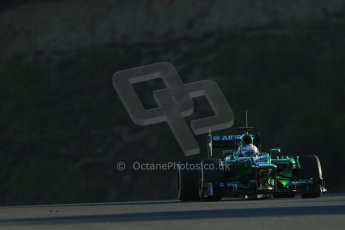 World © Octane Photographic Ltd. Formula 1 Winter testing, Jerez, 6th February 2013. Caterham CT03, Giedo van de Garde. Digital Ref: 0572lw1d8639