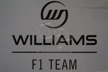 World © Octane Photographic Ltd. Formula 1 Winter testing, Jerez, 7th February 2013. Williams F1 Team logo. Digital Ref: 0573cb7d7112