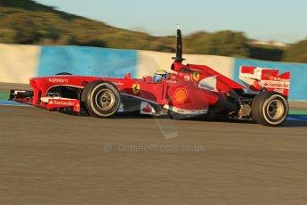 World © Octane Photographic Ltd. Formula 1 Winter testing, Jerez, 7th February 2013. Ferrari F138 – Felipe Massa. Digital Ref: 0573cb7d7130