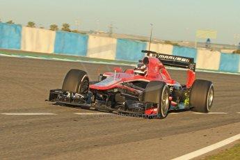 World © Octane Photographic Ltd. Formula 1 Winter testing, Jerez, 7th February 2013. Marussia MR02, Max Chilton. Digital Ref: 0573cb7d7138