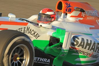 World © Octane Photographic Ltd. Formula 1 Winter testing, Jerez, 7th February 2013, morning sessions. Sahara Force India VJM06 – Paul di Resta. Digital Ref: 0573cb7d7166