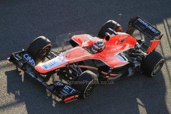 World © Octane Photographic Ltd. Formula 1 Winter testing, Jerez, 7th February 2013. Marussia MR02, Max Chilton. Digital Ref: 0573cb7d7207