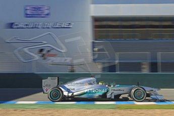 World © Octane Photographic Ltd. Formula 1 Winter testing, Jerez, 7th February 2013. Mercedes AMG Petronas F1 W04, Nico Rosberg. Digital Ref: 0573cb7d7278