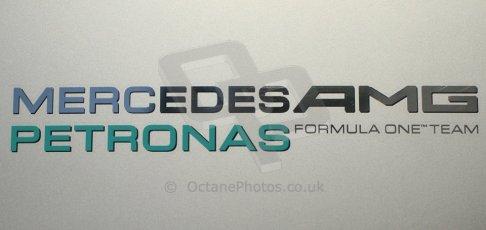 World © Octane Photographic Ltd. Formula 1 Winter testing, Jerez, 7th February 2013. Mercedes AMG Petronas Formula One Team logo. Digital Ref: 0573cb7d7329