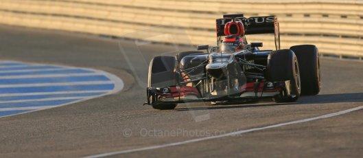 World © Octane Photographic Ltd. Formula 1 Winter testing, Jerez, 7th February 2013. Lotus E31, Kimi Raikkonen. Digital Ref: 0573lw1d8911