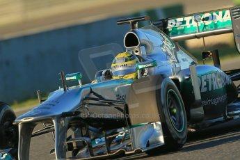 World © Octane Photographic Ltd. Formula 1 Winter testing, Jerez, 7th February 2013. Mercedes AMG Petronas F1 W04, Nico Rosberg. Digital Ref: 0573lw1d8941