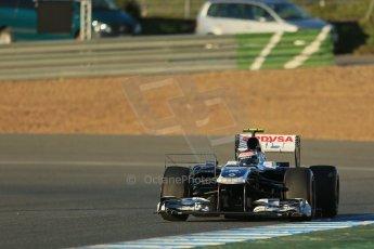 World © Octane Photographic Ltd. Formula 1 Winter testing, Jerez, 7th February 2013. Williams FW34, Valterri Bottas. Digital Ref: 0573lw1d8949