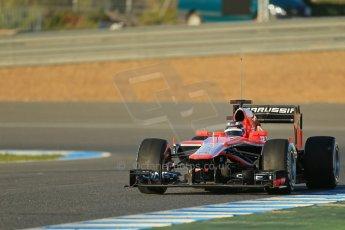World © Octane Photographic Ltd. Formula 1 Winter testing, Jerez, 7th February 2013. Marussia MR02, Max Chilton. Digital Ref: 0573lw1d8982