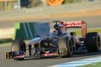 World © Octane Photographic Ltd. Formula 1 Winter testing, Jerez, 7th February 2013. Toro Rosso STR8, Jean-Eric Vergne. Digital Ref: 0573lw1d9028